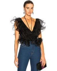 Johanna Ortiz - Zambezi Silk Organza Bodysuit - Lyst
