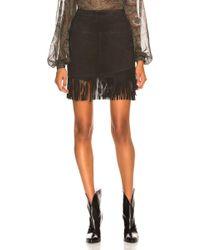 FRAME - Fringe Overlay Skirt - Lyst
