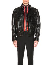 Givenchy - Calf Leather Jacket - Lyst