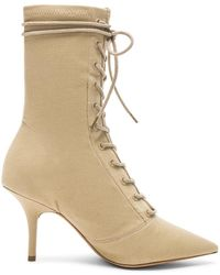 Yeezy - Season 6 Stretch Canvas Lace Up Ankle Boot - Lyst