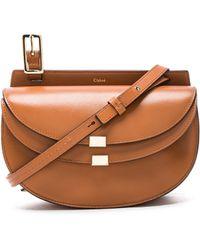 Chloé - Mini Leather Georgia Bag - Lyst