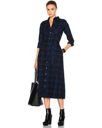 Engineered Garments - Plaid Flannel Bd Shirt Dress - Lyst