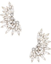 Saint Laurent Rubans Clip Earrings in Metallics R3sTwRMsZY