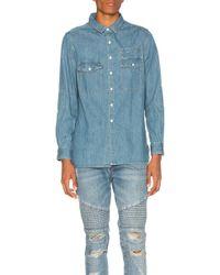 Stampd - Washed Denim Work Shirt - Lyst