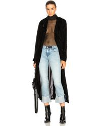 RTA | Karina Velvet Coat | Lyst