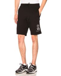 Y-3 - Graphic Shorts In Black - Lyst