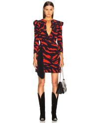Givenchy - Tiger-print Silk Mini Dress - Lyst