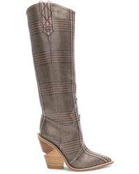 247466c8843 Cutwalk Check Knee High Western Boots