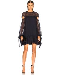 Jonathan Simkhai - Embroidered Cut Out Sleeve Doll Dress - Lyst