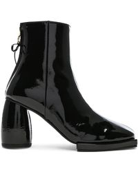 Reike Nen - Patent Leather Square Ribbon Half Boots - Lyst