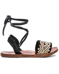Beek - Leather & Embroidery Toucan Sandals - Lyst
