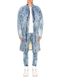 Fear Of God - Selvedge Denim Holy Water Deckcoat With Sherpa Lining - Lyst