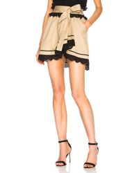 Marissa Webb - Ariella Skirt In Sandshell Combo - Lyst