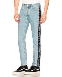 Marcelo Burlon - X Kappa Blue Antifit Jeans - Lyst