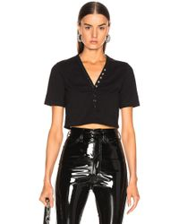 T By Alexander Wang - Snaps Short Sleeve Top - Lyst