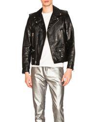 13a82c68c6c Men's Saint Laurent Leather jackets On Sale - Lyst