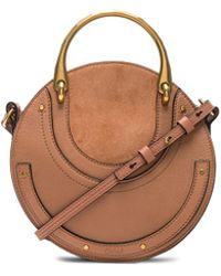 Chloé - Small Pixie Shiny Goatskin, Calfskin & Suede Double Handle Bag - Lyst