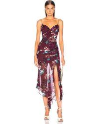 Nicholas - Floral Drawstring Dress - Lyst