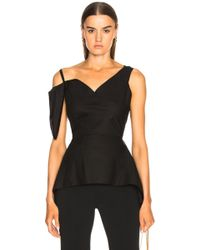 Roland Mouret - Crambe Heart Embroidered Cotton Piquet Top - Lyst