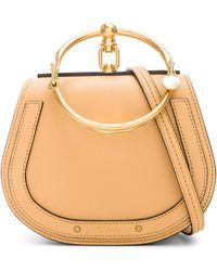 8c03dfc86455 Chloé Small Nile Calfskin   Suede Bracelet Bag in Blue - Lyst