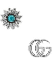 Gucci - Double G Flower Stud Earrings - Lyst