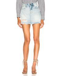 FRAME - Rigid Re Release Mini Skirt - Lyst