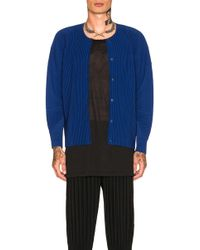 Homme Plissé Issey Miyake - Pleated Cardigan - Lyst