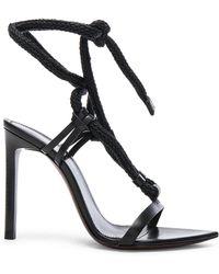 Saint Laurent - Majorelle Leather Strappy Sandals - Lyst