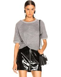 T By Alexander Wang - Double Layered Short Sleeve Top - Lyst