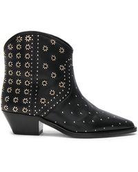 Isabel Marant | Domya Studded Leather Ankle Boots | Lyst
