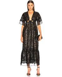 Stella McCartney - Leopard Print Burnout Plunging Gown - Lyst
