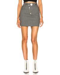 Alexander Wang - High Waisted Mini Skirt - Lyst