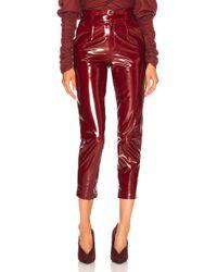 Zeynep Arcay - Patent Leather Mom Pants - Lyst