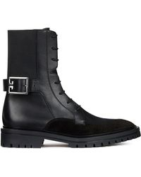 Givenchy Aviator Leather Shearling-Lined Ankle Boots DJmrkZt0YT