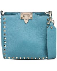 258df46494a71 Valentino Small My Rockstud Tote In Grain Leather in Black - Lyst
