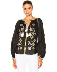 March 11 - Flora Embroidered Top - Lyst