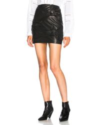 Étoile Isabel Marant - Gritanny Washed Leather Knotted Skirt In Black - Lyst