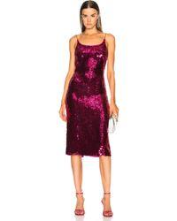 Oscar de la Renta - Sequin Low Back Slip Dress In Fuchsia - Lyst