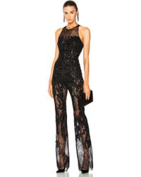 Zuhair Murad - Embellished Lace Sleeveless Jumpsuit - Lyst