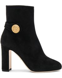 Dolce & Gabbana - Side Button Suede Booties - Lyst