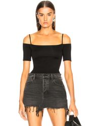 Enza Costa | Jersey Strappy Off Shoulder Tee | Lyst