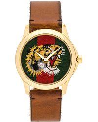 Gucci - 38mm Le Marche Des Merveilles Tiger Head Watch - Lyst