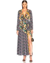 FRAME - Floral Panel Dress - Lyst