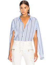 Unravel - Deconstructed Shirt Bodysuit - Lyst