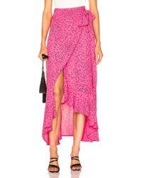 Ganni - Barra Crepe Skirt - Lyst