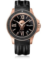 Thomas Sabo - Rebel Icon Rose Gold Stainless Steel Men's Watch W/black Leather Strap - Lyst