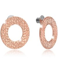 Rebecca - R-zero Rose Gold Over Bronze Stud Drop Earrings - Lyst