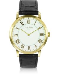 FORZIERI - Donatello - Slim Leather Watch - Lyst