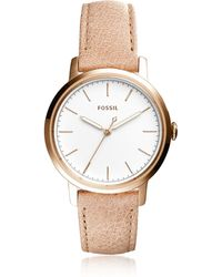 Fossil - Neely Three Hand Sand Leather Women's Watch - Lyst