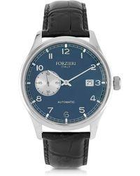 Forzieri | Byron Stainless Steel Men's Watch W/croco Leather Strap | Lyst